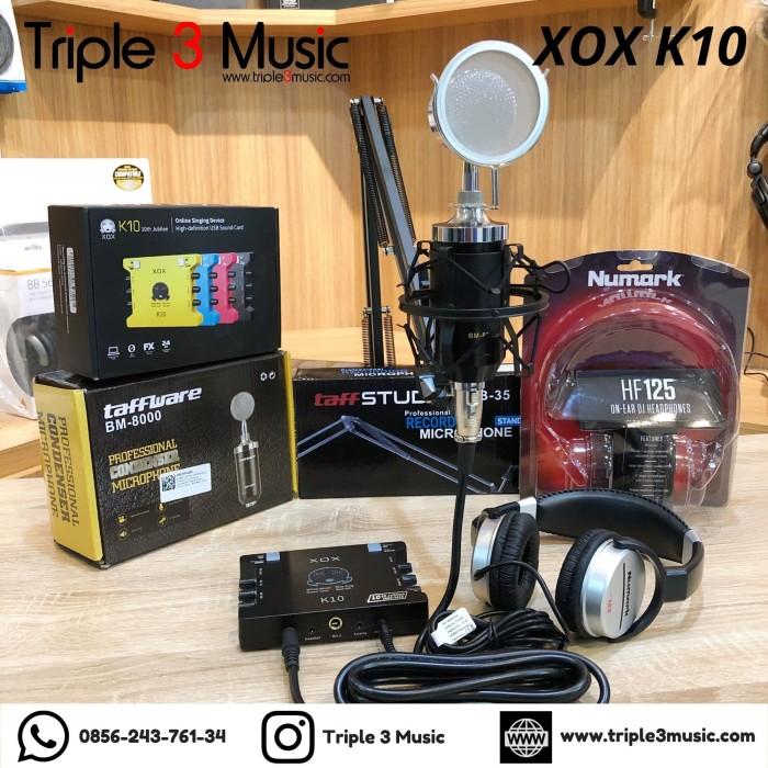 Foto Produk Paket Recording XOX K10 penerus ks108 BM8000 Numark HF125 ORIGINAL dari triple3music