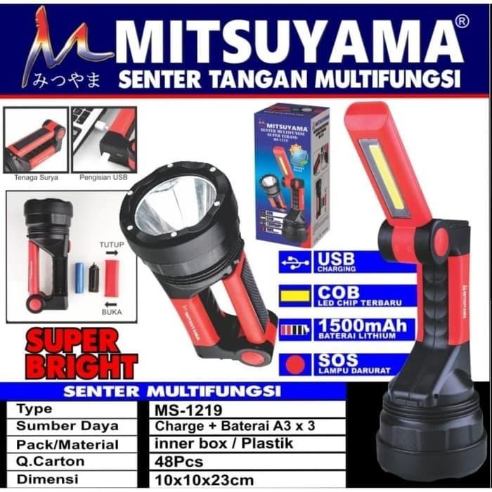 Foto Produk Senter + Emergency Multifungsi LED COB + SOS Baterai 18650 MS-1219 dari grosirltc