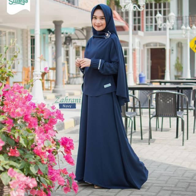 Jual Gamis Zahrani Navi By Swarga Hijab Gamis Terbaru Gamis Busui Kota Bekasi Pratama Store112 Tokopedia
