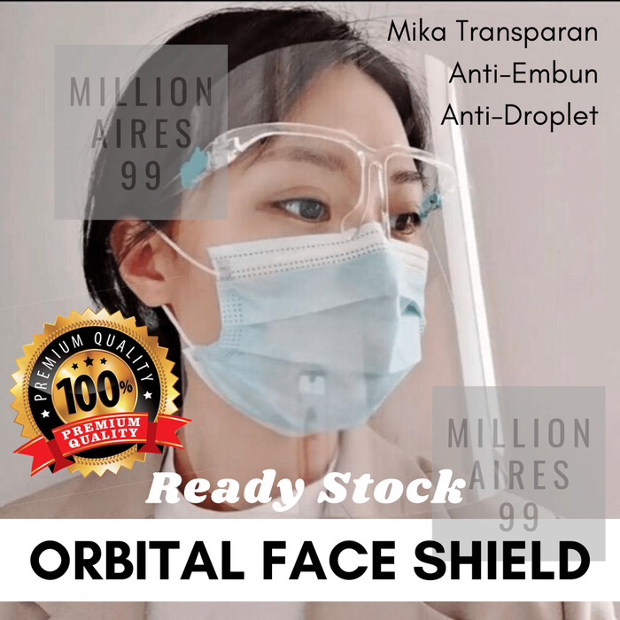 Foto Produk Face Shield Kacamata / Faceshield Kacamata / Face shield Nagita dari Millionaires 99