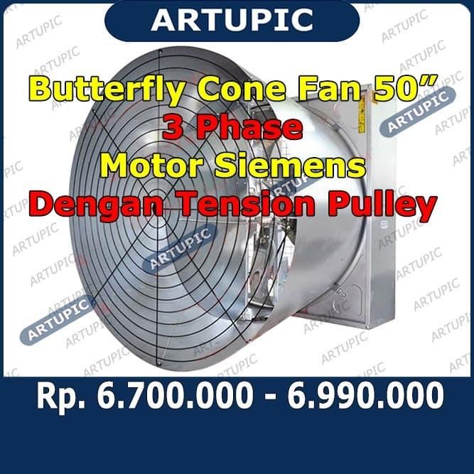 Foto Produk Butterfly Cone Fan 50 Inch 3 Phase Motor Kingdom Kipas Kandang Ayam dari ArtupicPeralatanPeternak