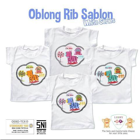 Foto Produk Libby Baby - 4pcs HORSEY Oblong Rib Sablon - WHITE SERIES, SMALL dari Chubby Baby Shop