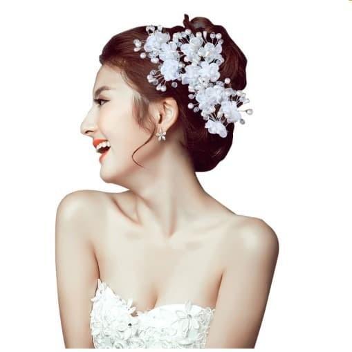 Jual Bride Wedding Hair Accessories Bunga Headpiece Aksesoris Crystal Kota Tangerang Jual Grosir Online Tokopedia