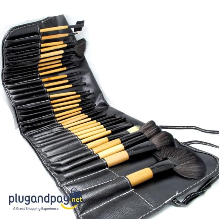 Foto Produk Brush Make Up 32 Set dengan Pouch Kuas Makeup Rias dari plugandpay