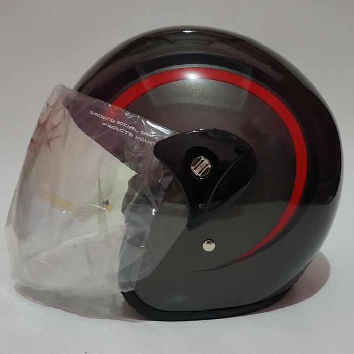 Foto Produk HELM DEWASA SNI MODEL SCOOPS UTK SEPEDA MOTOR SCOOPY - Abu-abu dari helmkubagus
