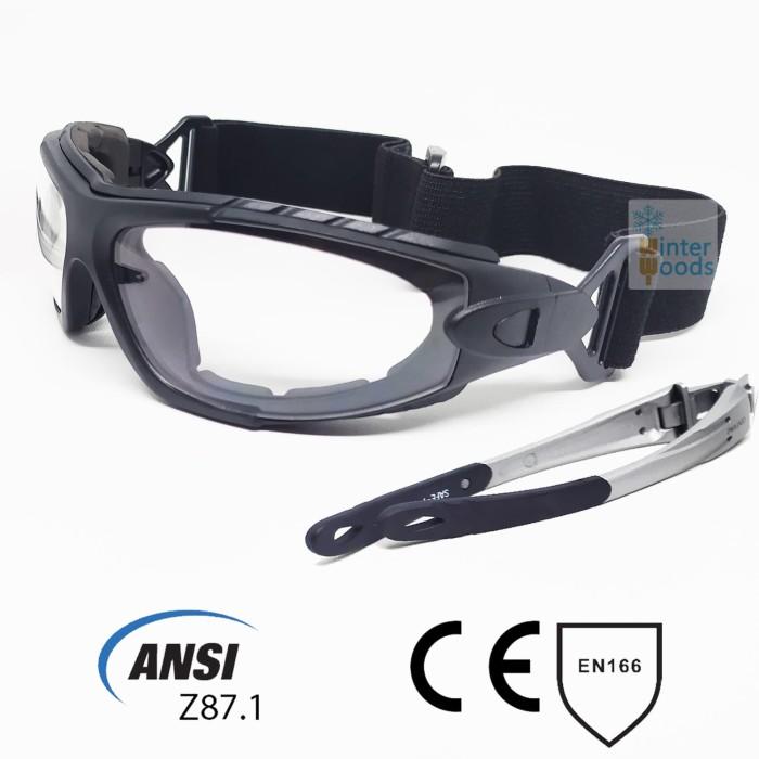 Foto Produk Kacamata/Goggle Safety (Bisa menggunakan strap atau frame) ANSI Z87.1 dari winter woods