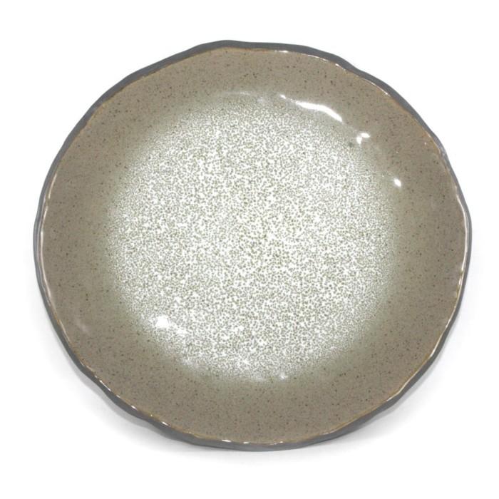 Foto Produk Artisan Ceramic | Grey Reactive Oyster Dinner Plate | Piring Keramik dari Artisan Ceramic
