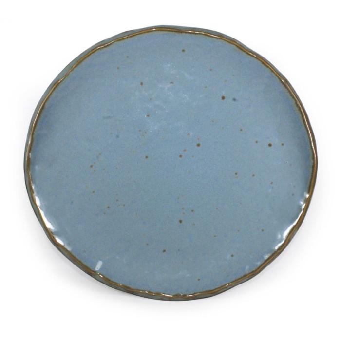 Foto Produk Artisan Ceramic | Blue Spot Oyster Dinner Plate | Piring Makan Keramik dari Artisan Ceramic
