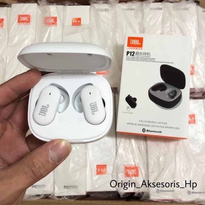Jual Headset Bluetooth Jbl Tws P12 Wireless Earphones Jbl Tws 4 Tws4 Tws 4 Jakarta Pusat Originalaksesorishp Tokopedia