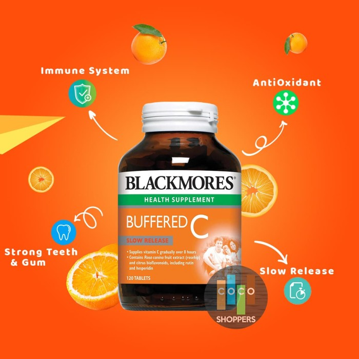 Foto Produk Blackmores Buffered C vitamin C 500mg aman bagi lambung isi 120 tablet dari COCOshoppers