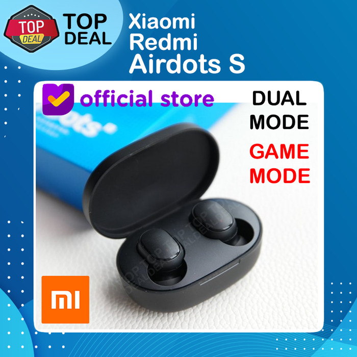 Foto Produk Xiaomi Redmi Airdots S Upgrade Dual Game Mode ORIGINAL - Hitam dari Top Deal