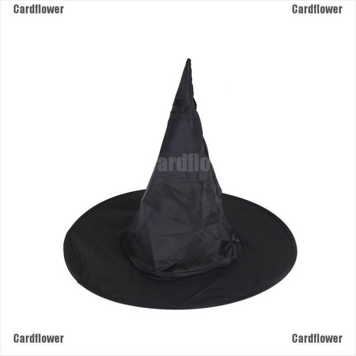 Jual Cardflower Halloween Witch Hat Women S Black Witch Hat For Jakarta Barat Honeymall Tokopedia