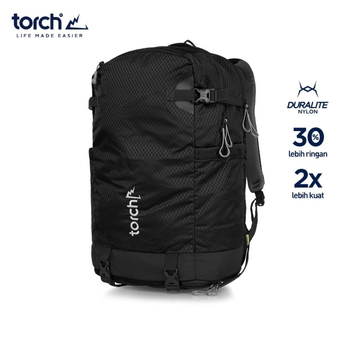 Foto Produk TORCH TAS RANSEL LIGHT TRAVEL BACKPACK SHIOJIRI 30L - MIDNIGHT BLACK dari TORCH