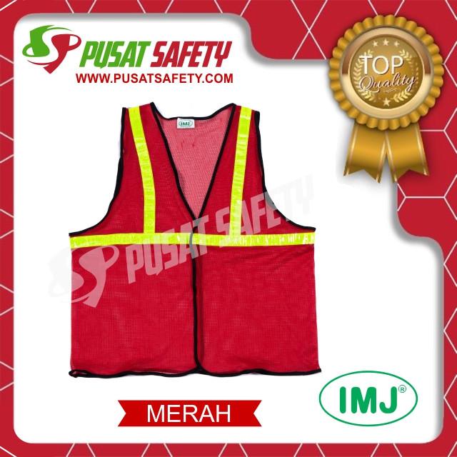 Foto Produk Rompi Kerja Safety Jaring Halus - Merah dari Pusat Safety Online
