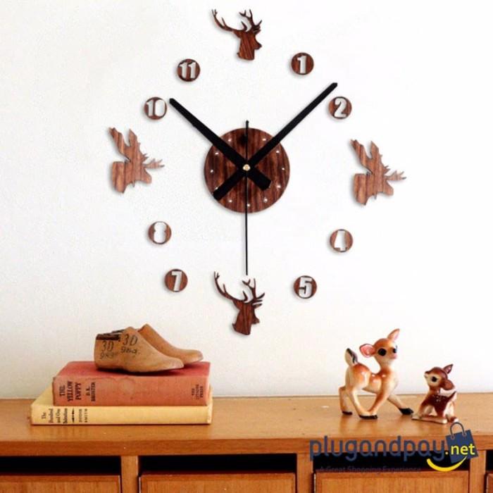 Foto Produk Jam Dinding DIY Giant Wall Clock Jam Besar Raksaasa 30-60cm - DIY-04 dari plugandpay