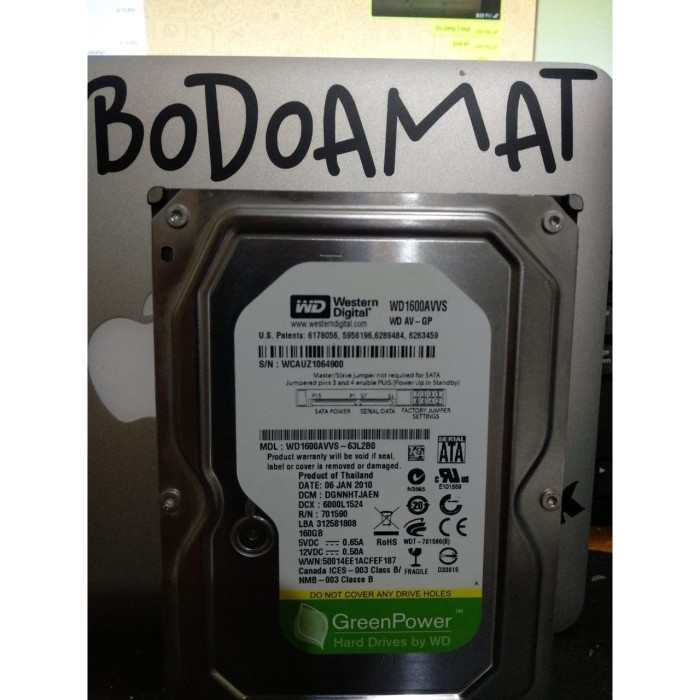 Foto Produk Hardisk Internal PC 160 GB Full Game dari Bodo Amat