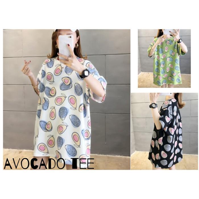 Foto Produk Avocado Big Size Tee XXL / Kaos Motif Alpukat - Putih dari Grosir Korean style