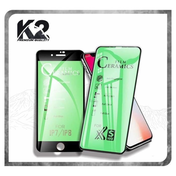 Foto Produk TEMPERED GLASS [CERAMICS] WARNA K2 Premium Quality Full Layar IPHONE dari K2 Official Store
