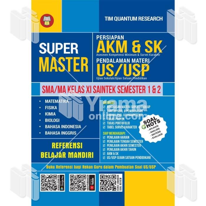 Foto Produk BUKU SUPER MASTER PERSIAPAN AKM & SK - SMA KELAS XI SAINTEK dari Yrama Widya Online