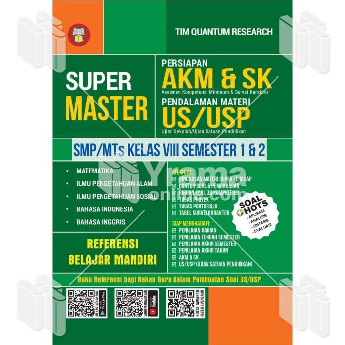 Foto Produk BUKU SUPER MASTER PERSIAPAN AKM & SK - SMP/MTs KELAS VIII dari Yrama Widya Online