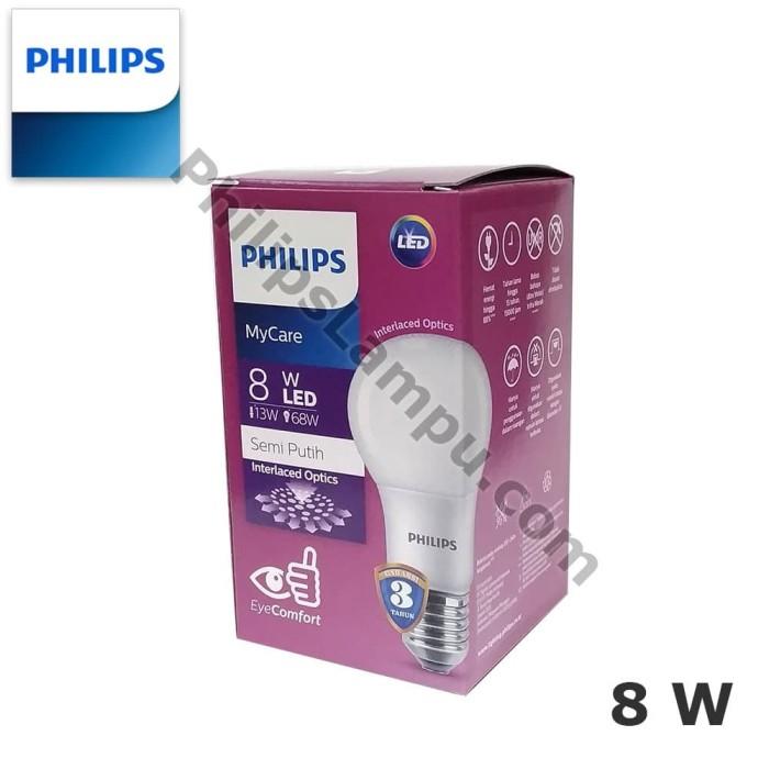 Foto Produk Lampu LED Bulb Philips MyCare 8W Ledbulb 8 Watt - Putih dari philipslampu
