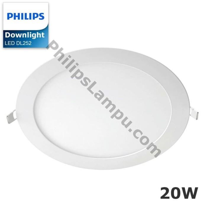 Foto Produk Lampu Downlight LED Philips DL252 20W Downlight Super Slim - Putih dari philipslampu