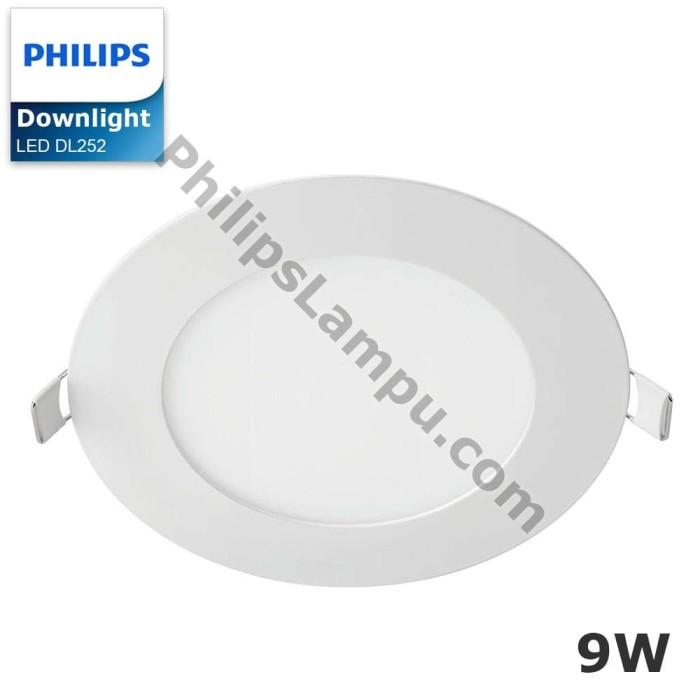 Foto Produk Lampu Downlight LED Philips DL252 9W Downlight Super Slim - Putih dari philipslampu