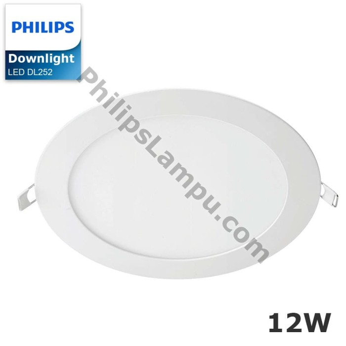Foto Produk Lampu Downlight LED Philips DL252 12W Downlight Super Slim - Putih dari philipslampu