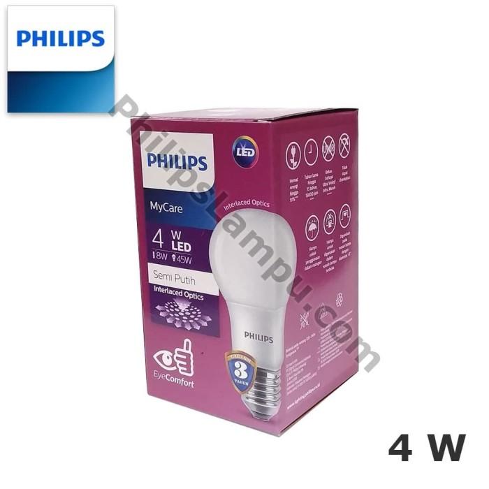 Foto Produk Lampu LED Bulb Philips MyCare 4W Ledbulb 4 Watt - Putih dari philipslampu