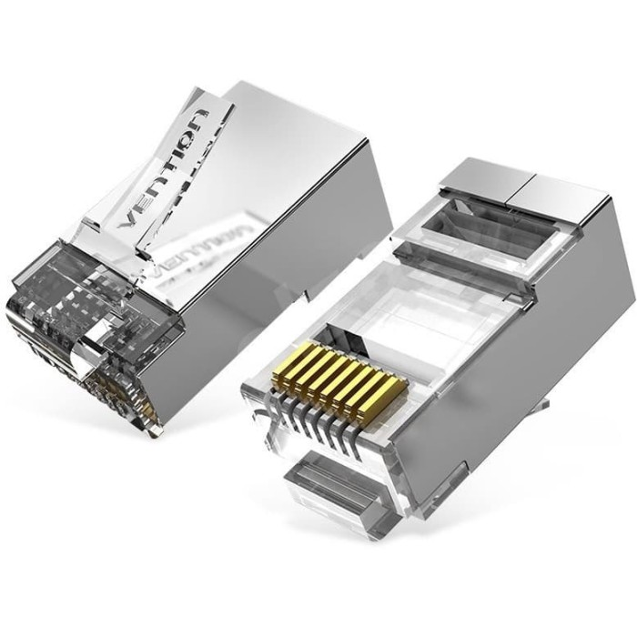 Foto Produk Vention Konektor RJ45 Cat6 FTP Modular Gigabit Head Ethernet Connector - IDF - 10 Pcs dari Vention Indonesia