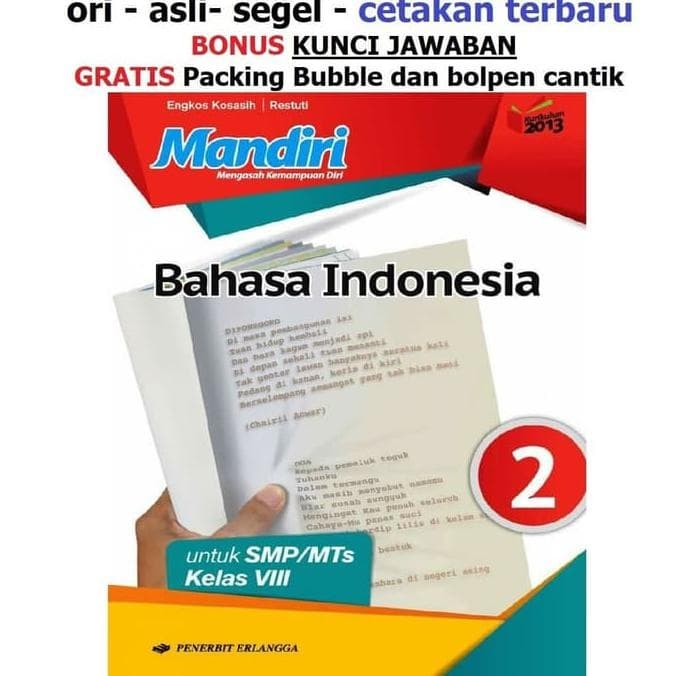 Jual Buku Mandiri Erlangga Bahasa Indonesia Kelas 8 Smp Kunci Jawaban Jakarta Barat Febriahermashop01 Tokopedia