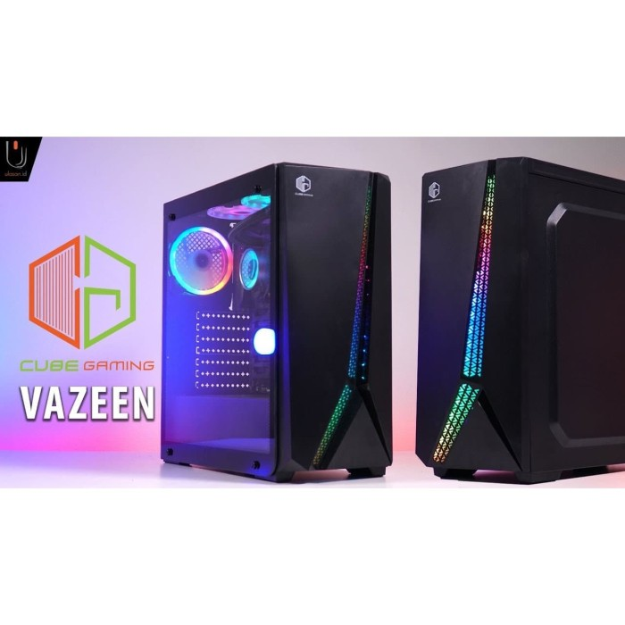 Jual Cube Gaming Vazeen Black Side Tempered Glass Free 1pcs 12cm Rainbow Kota Medan Scoper Cv Tokopedia