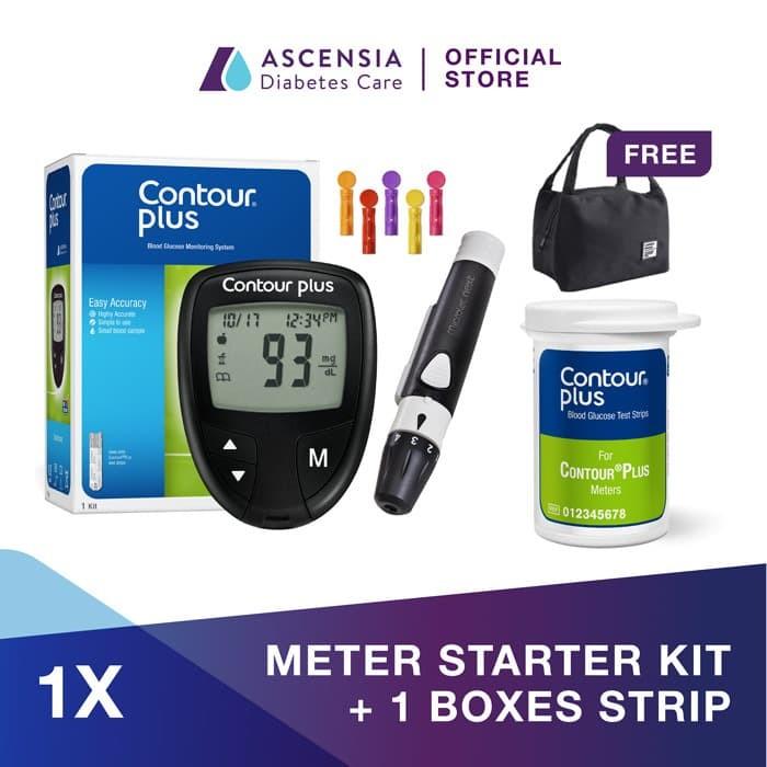 Foto Produk Contour Plus Alat Test Gula Darah + 25 Strip FREE Cooler Bag dari Contour Official Store