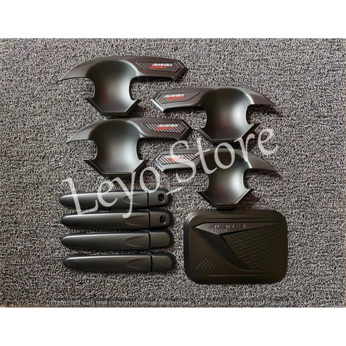 Foto Produk Grand All New Avanza Paket Outer Handle Tank cover Hitam Smartkey dari leyo store