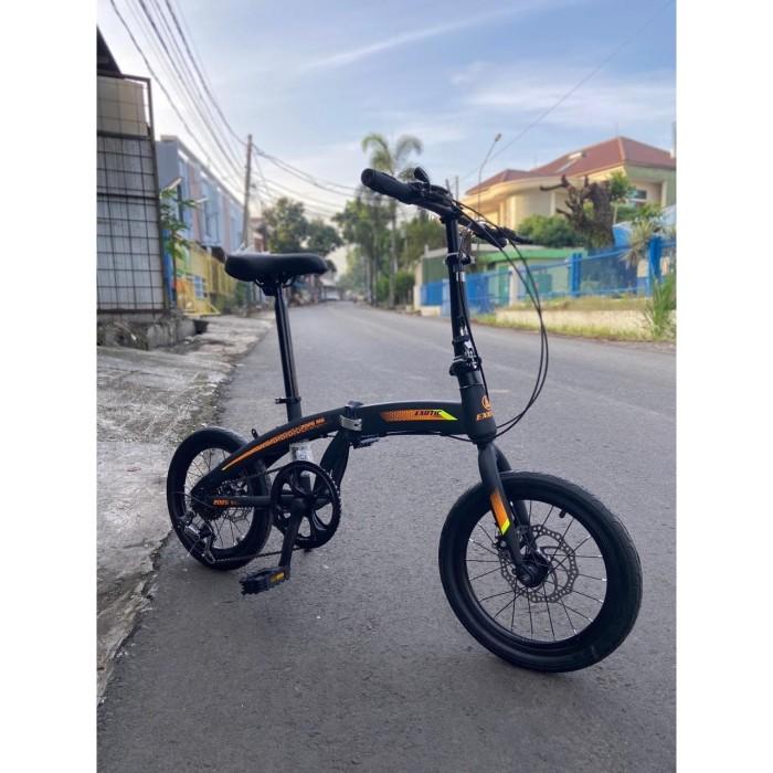 Jual Sepeda Lipat Exotic 2026mg Ring 16 7 Speed Double Disc Brake Black Blue Kota Bandung Harga Murah Cell Tokopedia