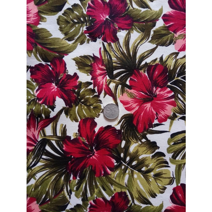 Jual Kanvas Motif Tropical Flower Red Basic Broken White Kota Bekasi M G Kain Kanvas Tokopedia