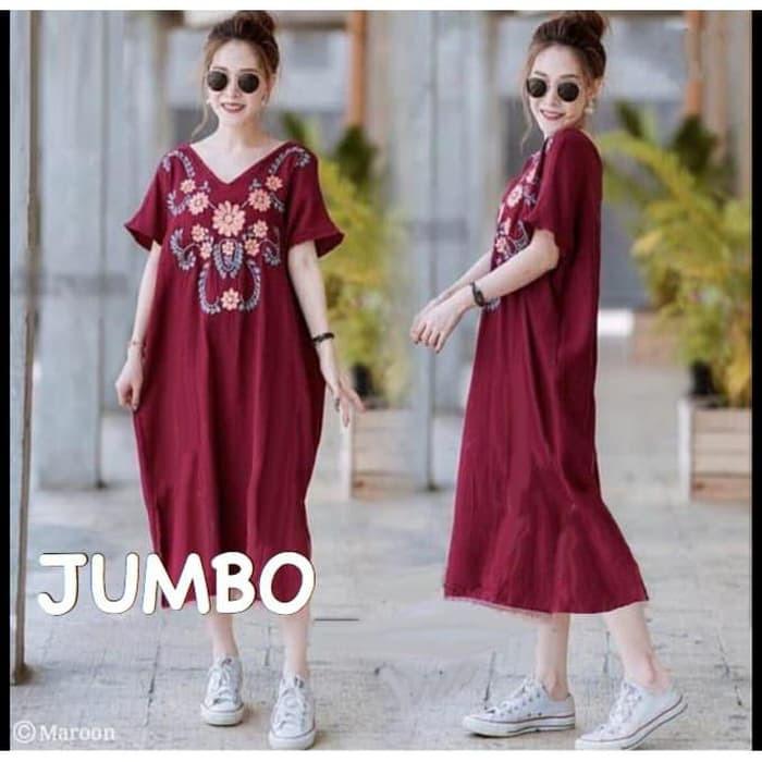 Foto Produk damai fashion jakarta - baju DRESS jumbo wanita PELITA - konveksi mura dari LV.co Tanah abang