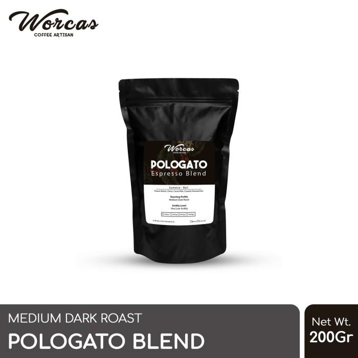 Foto Produk WORCAS Kopi Pologato Espresso Blend 200 Gram - KOPI BIJI dari WORCAS COFFEE