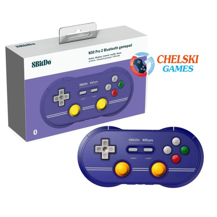 Foto Produk 8Bitdo N30 Pro 2 Bluetooth Gamepad C Edition Nintendo Switch dari Chelski Games