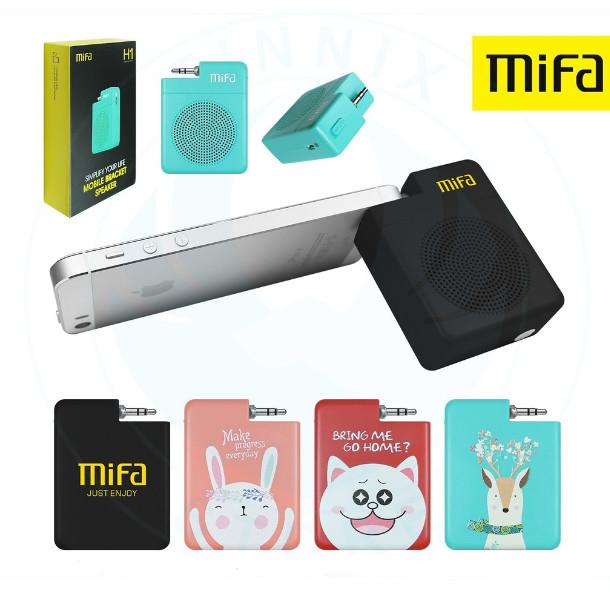 Foto Produk Speaker Mifa H1 H 1 Portable Stereo Mini 3.5mm Audio Plug n Play - Hijau dari PojokITcom Pusat IT Comp