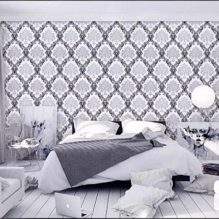 Jual Wallpaper Dinding Batik Hitam Putih Silver Wall Sticker Kamar Rumah Kab Tangerang Pasar Etnik Citra Raya Tokopedia