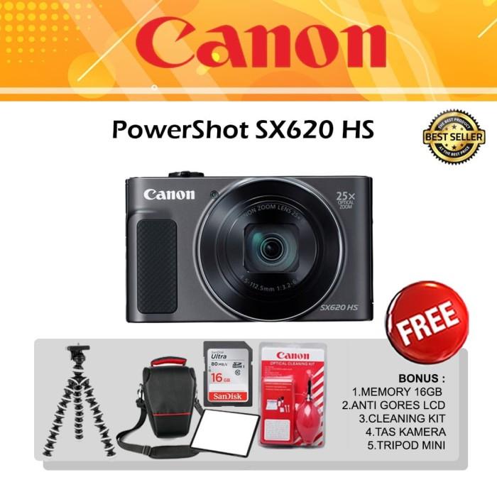 Foto Produk Canon PowerShot SX620 HS PAKET BONUS 5 ITEM / Canon SX620 HS dari Pusat Droncam