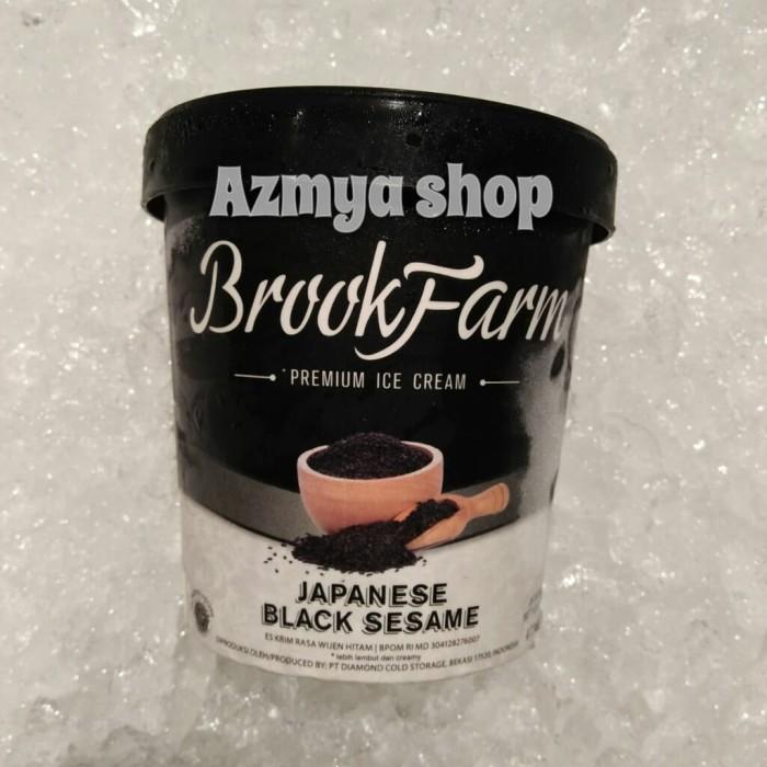 Jual Brookfarm Premium Ice Cream Japanese Black Sesame 473ml Jakarta Barat Azmyaropi Tokopedia