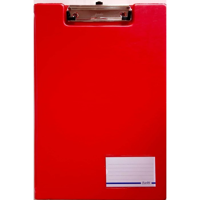 Foto Produk Bantex 4211-09 (RED) Clipboard With Cover Ukuran Folio | Papan Jalan dari officemart