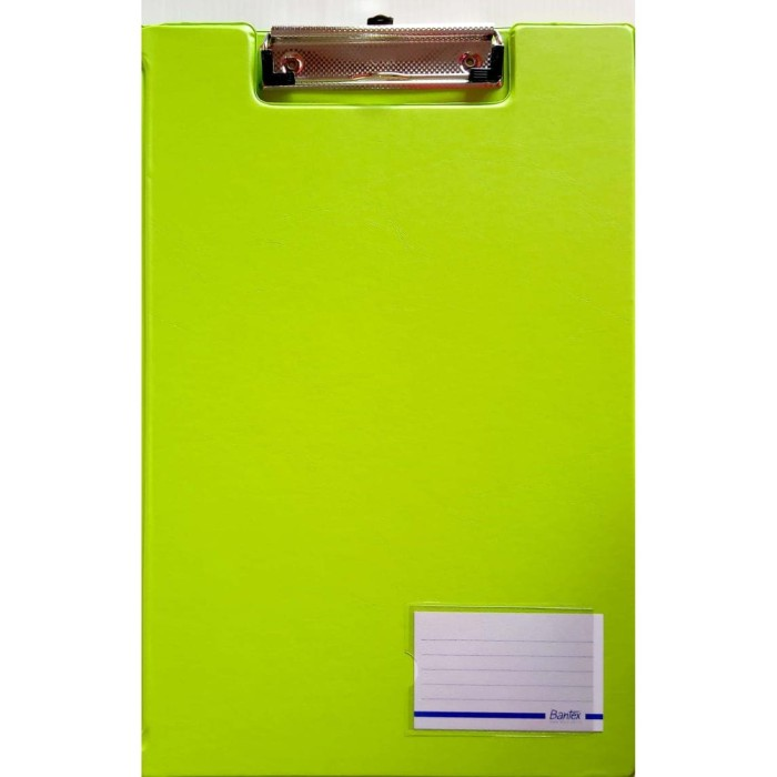 Foto Produk Bantex 4211-65 (LIME) Clipboard With Cover Ukuran Folio   Papan Jalan dari officemart