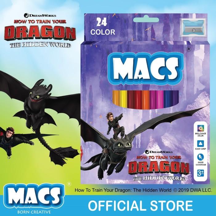Pencil Warna How to train your dragon Night Fury MACS 24 colors