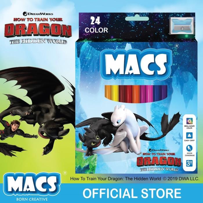 Pencil Warna How to train your dragon Light Fury MACS 24 colors