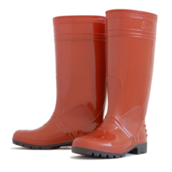 Foto Produk sepatu safety boots apd medis merah maroon tinggi murah steffi dari Sentral Stationery