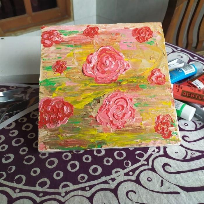 Jual Lukisan Abstrak Lukisan Bunga Mawar Kab Tegal Gudang Hot Wheels Tokopedia