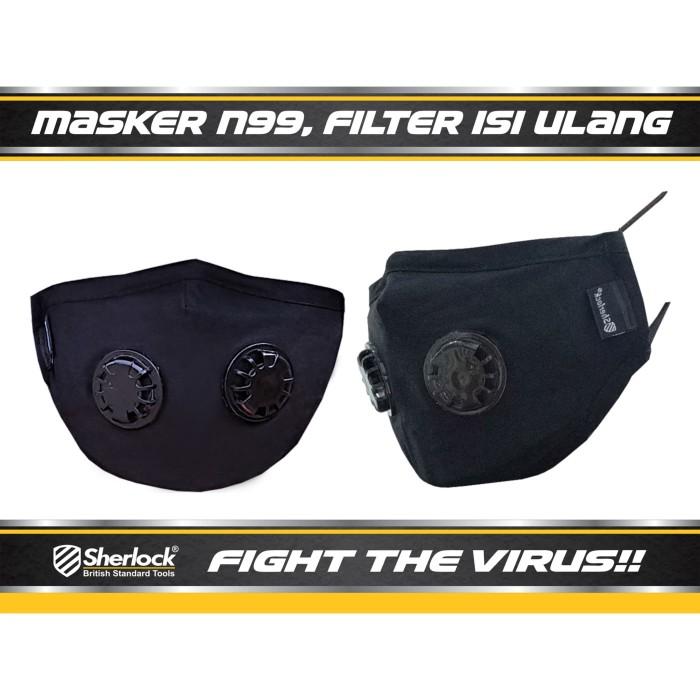 Foto Produk MASKER RESPIRATOR SHERLOCK N99 ( EXPRESS!! SURABAYA,BANDUNG, MAKASSAR) dari SHERLOCK TOOLS